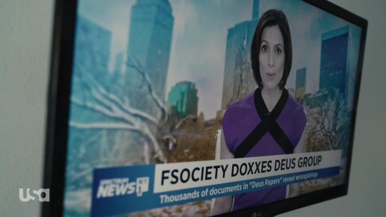 LG TV and Spectrum News in Mr. Robot Season 4 Episode 10 410 Gone (1)