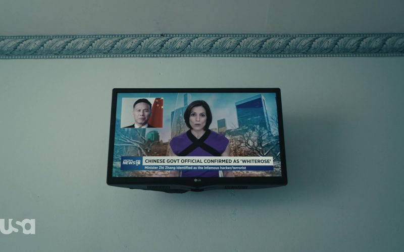 LG TV and Spectrum News in Mr. Robot Season 4 Episode 10 410 Gone (2)