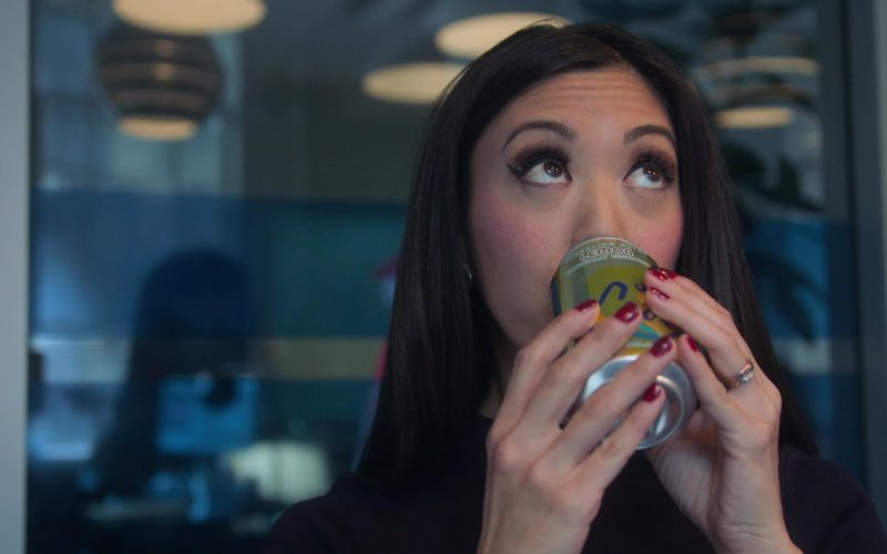 LaCroix Sparkling Water Enjoyed by Brittany Ishibashi as Tina Minoru in Runaways Season 3 Episode 2 The Great Escape (1)