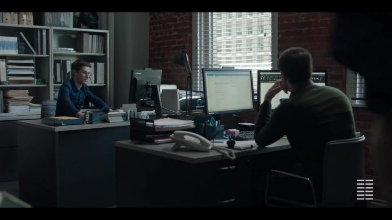 Lenovo Monitor Used by Noah Robbins in The Assistant (2019) - Movie Product Placement