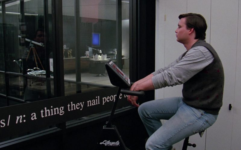 Lifecycle Exercise Bike by Life Fitness in Scrooged (1)