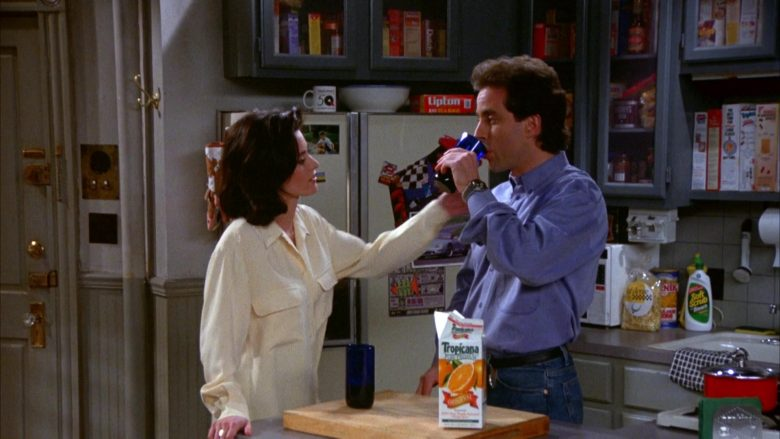"""Lipton Tea and Tropicana Juice in Seinfeld Season 5 Episode 17 """"The Wife"""" (1994) - TV Show Product Placement"""