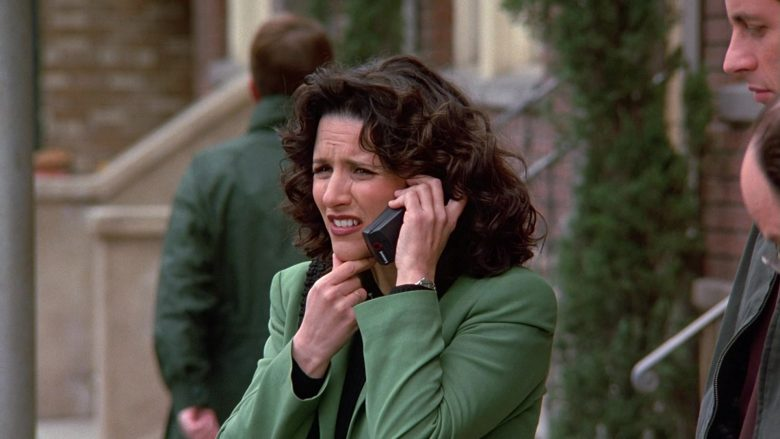 Lucent Mobile Phone Used by Julia Louis-Dreyfus as Elaine Benes in Seinfeld Season 9 Episodes 23-24 The Finale (2)