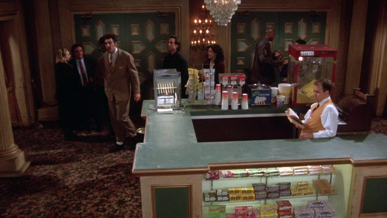 "M&M's, Snickers, Jujyfruits, Skittles, Mike and Ike Jolly Joes Candy in Seinfeld Season 7 Episode 10 ""The Gum"" (1995) TV Show"