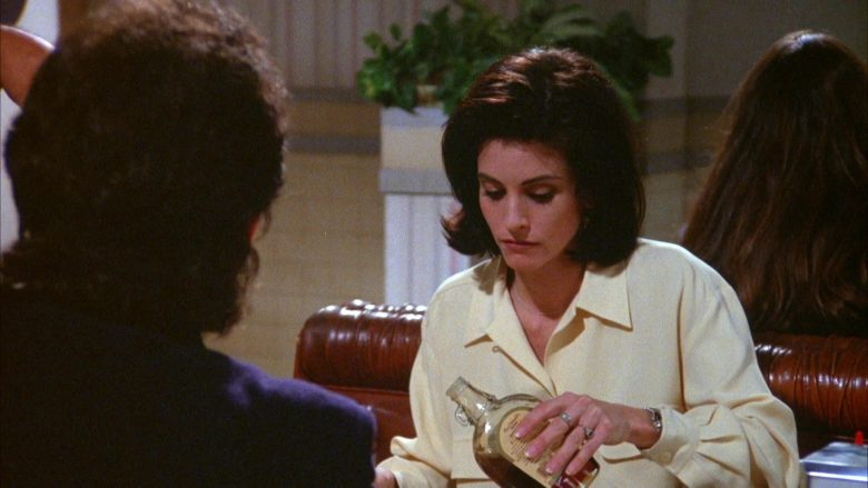MacDonald's Maple Syrup Held by Courteney Cox in Seinfeld Season 5 Episode 17 (2)