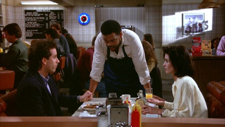 MacDonald's Maple Syrup Held by Courteney Cox in Seinfeld Season 5 Episode 17 (3)