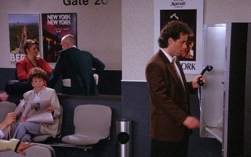 Marriott Marquis Hotel Poster in Seinfeld Season 6 Episode 22 The Diplomat's Club (1)