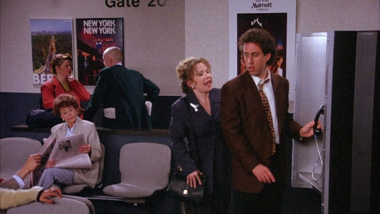 Marriott Marquis Hotel Poster in Seinfeld Season 6 Episode 22 The Diplomat's Club (2)