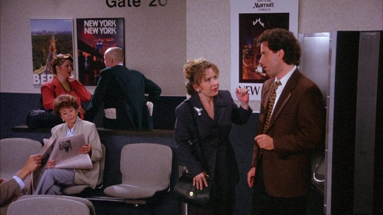 Marriott Marquis Hotel Poster in Seinfeld Season 6 Episode 22 The Diplomat's Club (3)