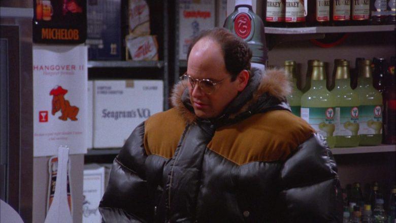 Michelob, Wild Turkey, Seagram's in Seinfeld Season 5 Episode 13 The Dinner Party