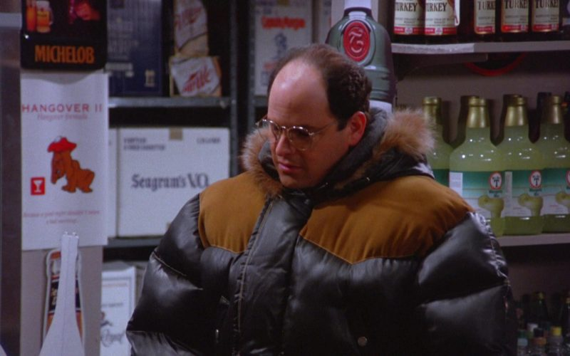 Michelob, Wild Turkey, Seagram's in Seinfeld Season 5 Episode 13 The Dinner Party
