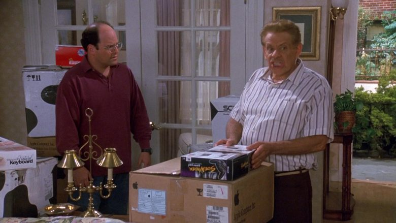Microsoft SideWinder Gamepad and Apple Computer Box in Seinfeld Season 9 Episode 3 The Serenity Now (1)