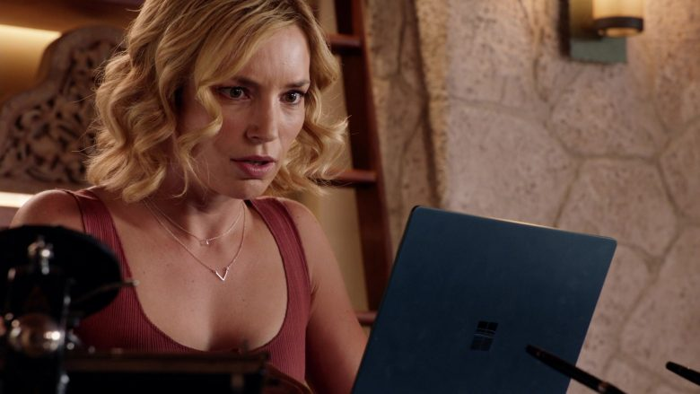"Microsoft Surface Laptop Used by Perdita Weeks as Juliet Higgins in Magnum P.I. Season 2 Episode 10 ""Blood Brothers"" (2019) - TV Show Product Placement"