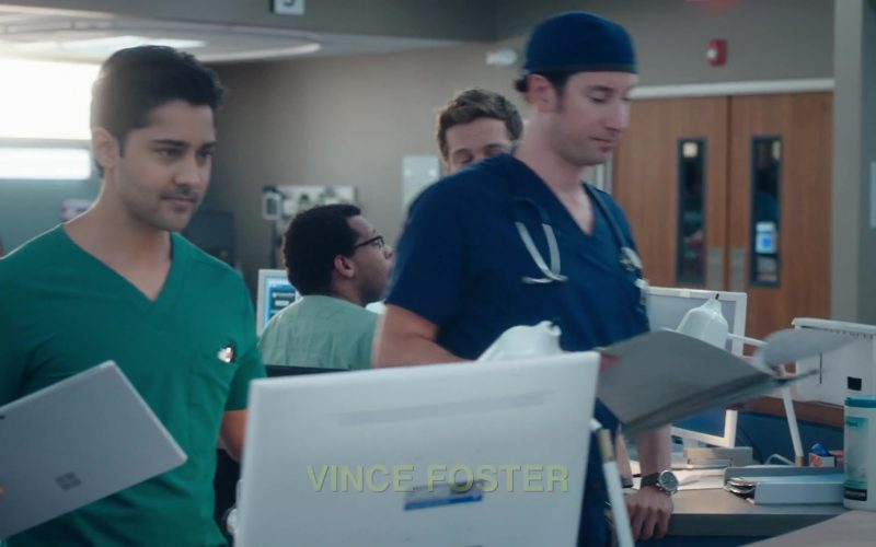 Microsoft Surface Tablet Used by Manish Dayal as Devon Pravesh in The Resident Season 3 Episode 10 Whistleblower