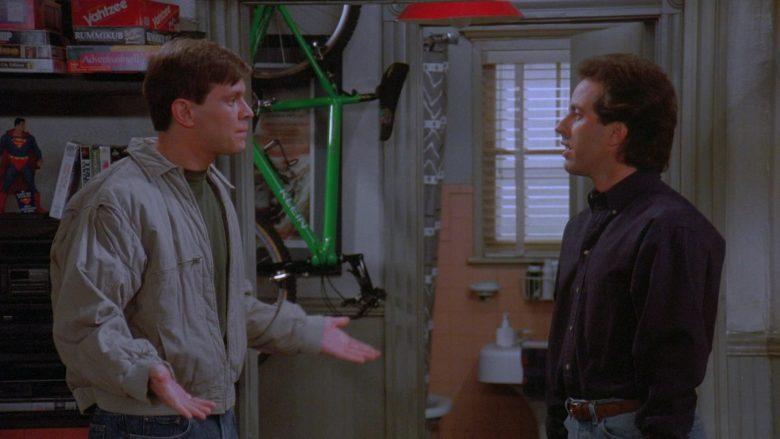 Milton Bradley Yahtzee Game and Klein Bicycle in Seinfeld Season 7 Episode 8 The Pool Guy (2)