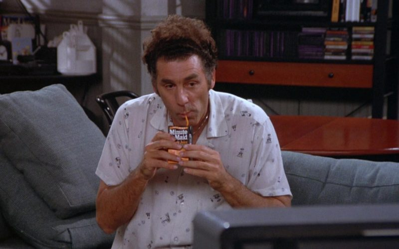 Minute Maid Juice Enjoyed by Michael Richards as Cosmo Kramer in Seinfeld Season 5 Episode 6 (1)