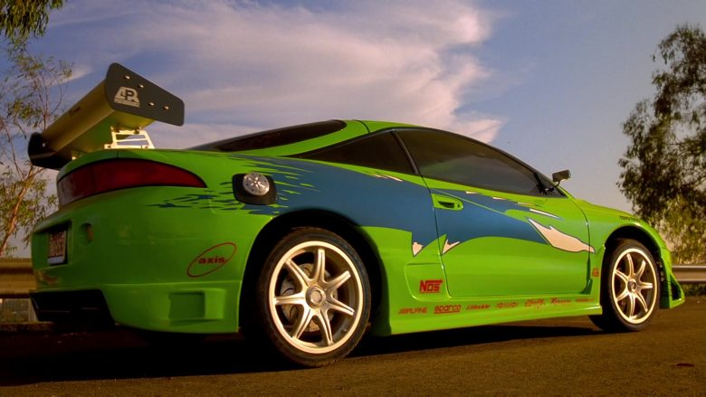 Mitsubishi Eclipse 2G Green Car in The Fast and the Furious (3)