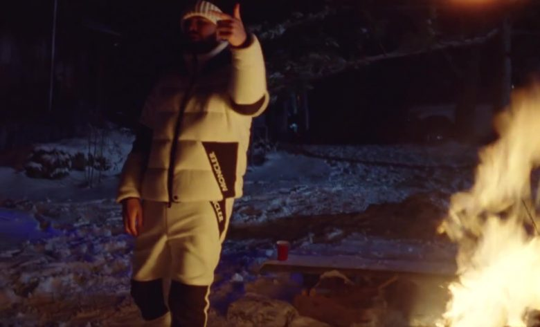 Moncler Jacket and Pants Outfit Worn by Drake in War (1)