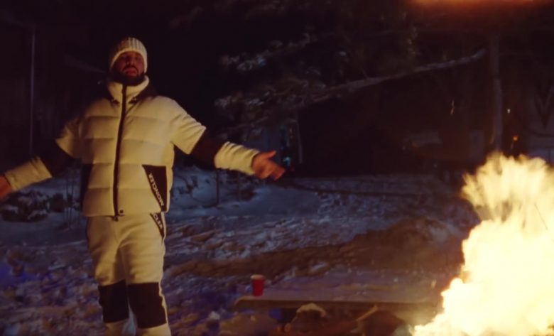 Moncler Jacket and Pants Outfit Worn by Drake in War (2)