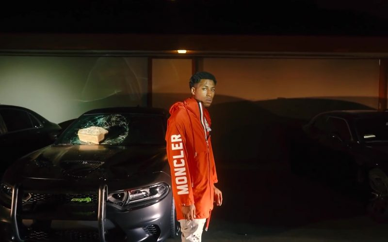 Moncler Orange Jacket Worn by NBA YoungBoy in Dirty lyanna (2)