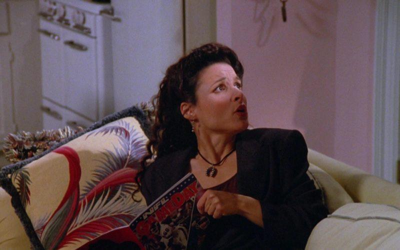 NFL Gameday Magazine Held by Julia Louis-Dreyfus as Elaine Benes in Seinfeld Season 5 Episode 9 (1)
