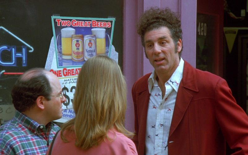 Natural Beer and Natural Light Poster in Seinfeld Season 7 Episode 24 The Invitations
