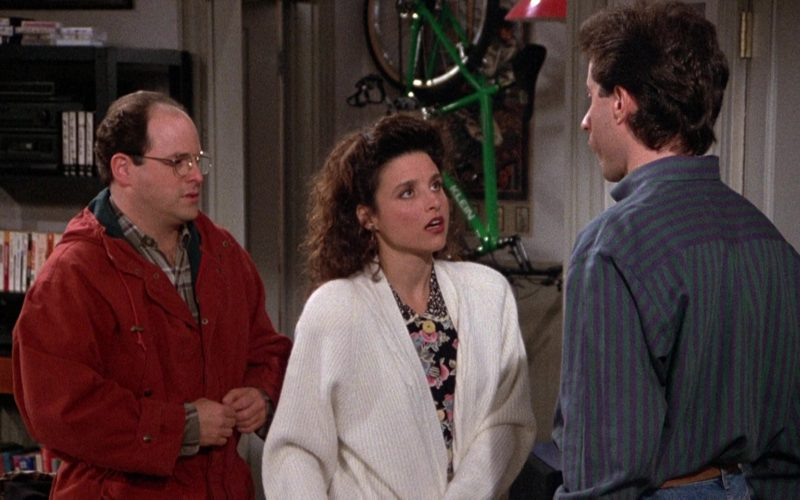 Nautica Chunky Knit Cardigan Sweater Worn by Julia Louis-Dreyfus as Elaine Benes in Seinfeld Season 3 Episode 12 (9)