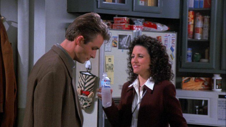 Naya Water Enjoyed by Julia Louis-Dreyfus as Elaine Benes in Seinfeld Season 8 Episode 7 The Checks (1)