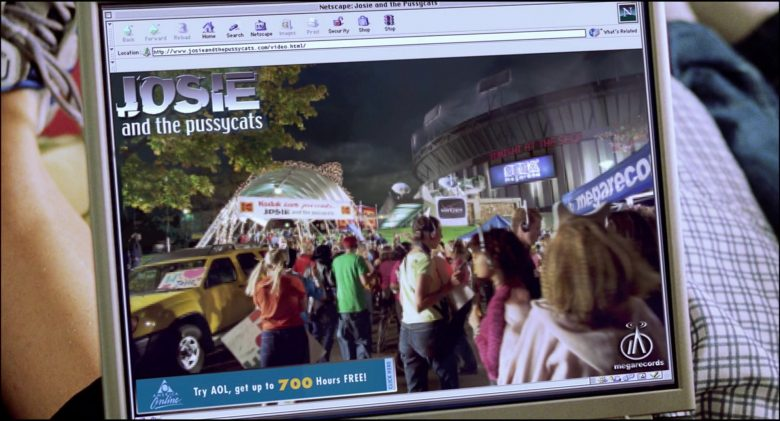 Netscape WEB Browser in Josie and the Pussycats (1)