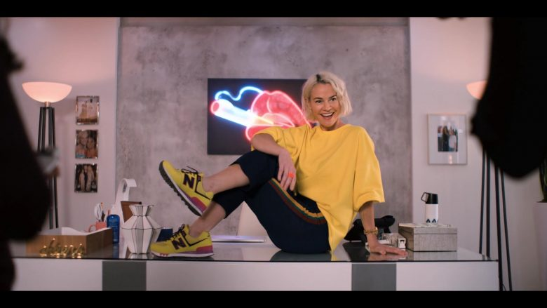 New Balance Yellow Sneakers Worn by Leisha Hailey as Alice Pieszecki in The L Word Generation Q Season 1 Episode 4 LA Times