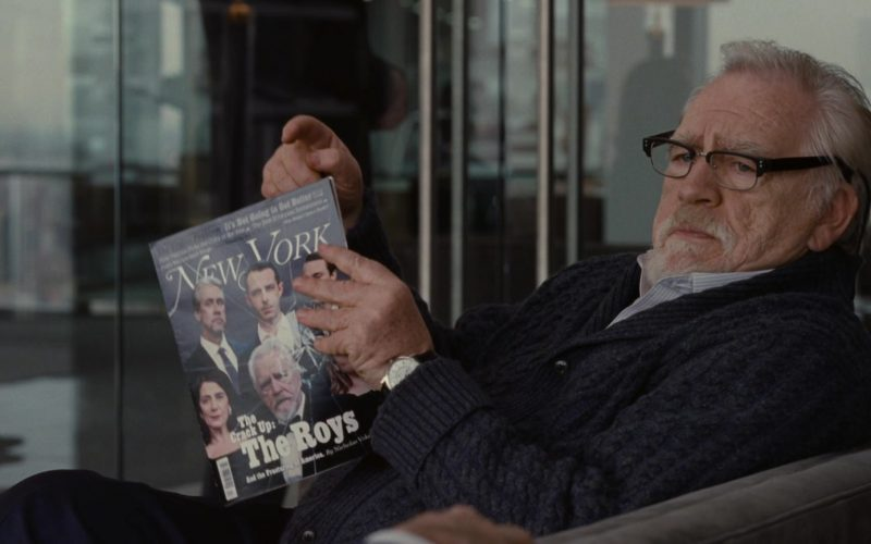 New York Magazine Held by Brian Cox as Logan Roy in Succession Season 1 Episode 7 Austerlitz (1)