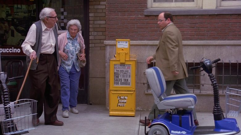 New York Post Newspapers in Seinfeld Season 9 Episode 1 The Butter Shave