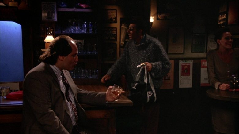 "Nike Bag Used by Michael Richards as Cosmo Kramer in Seinfeld Season 5 Episode 4 ""The Sniffing Accountant"" (1993) TV Show"