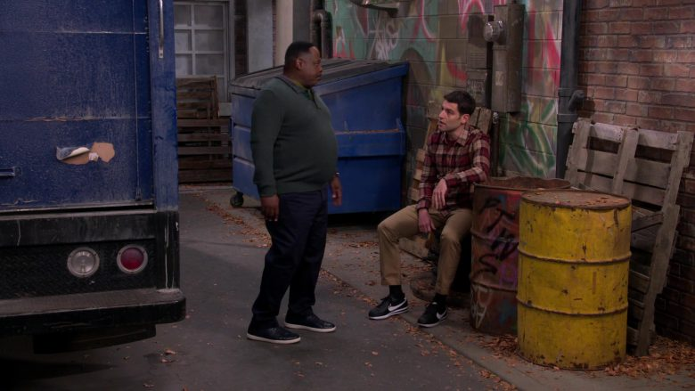 Nike Black Sneakers Worn by Max Greenfield as Dave in The Neighborhood Season 2 Episode 11 Welcome to the Scooter (3)