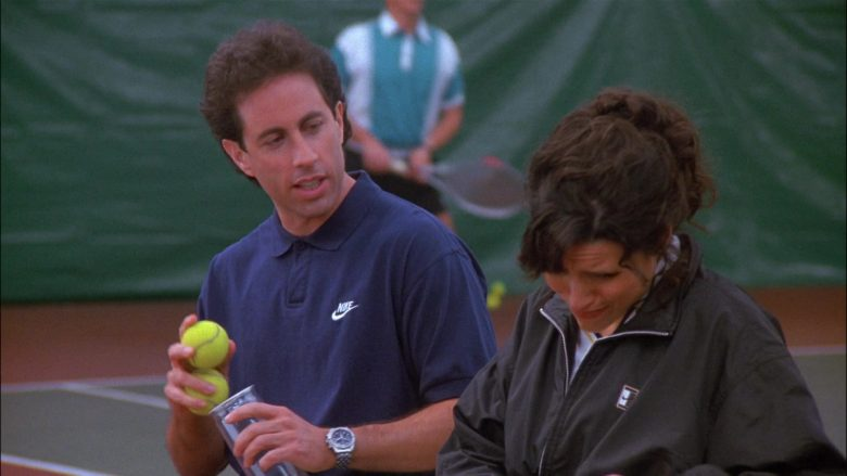 Nike Blue Polo Shirt Worn by Jerry Seinfeld in Seinfeld Season 8 Episode 13 The Comeback
