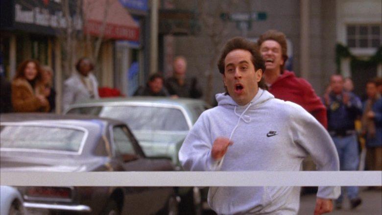 Nike Hoodie Worn by Jerry Seinfeld in Seinfeld Season 6 Episode 10 The Race (6)
