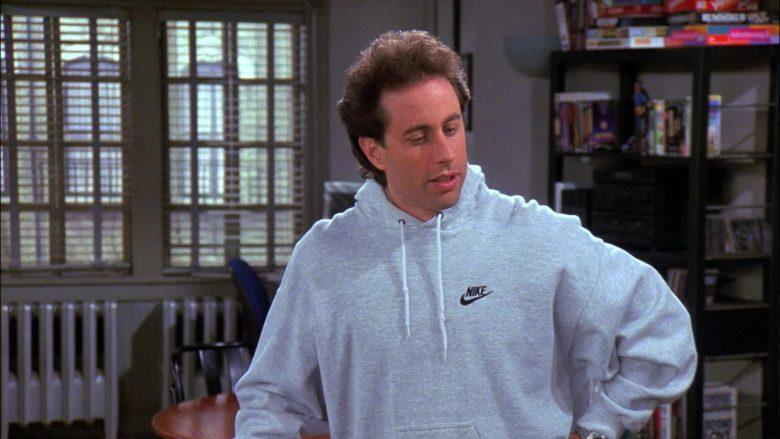 Nike Hoodie Worn by Jerry Seinfeld in Seinfeld Season 8 Episode 11 The Little Jerry (2)