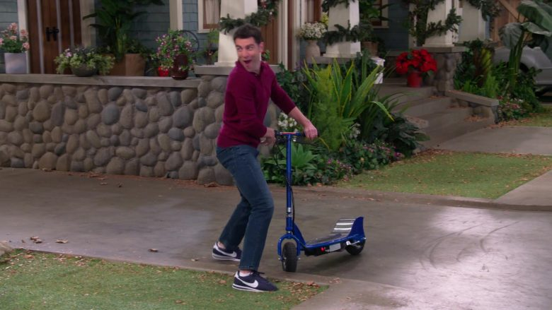 Nike Men's Blue Shoes Worn by Max Greenfield as Dave Johnson in The Neighborhood Season 2 Episode 11 Welcome to the Scooter (1)