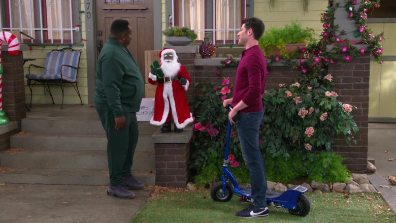 Nike Men's Blue Shoes Worn by Max Greenfield as Dave Johnson in The Neighborhood Season 2 Episode 11 Welcome to the Scooter (2)