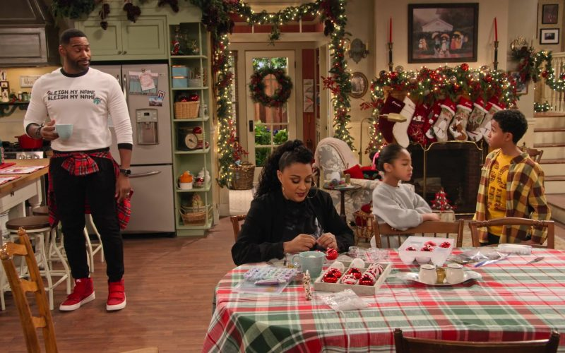 Nike Red High Top Sneakers Worn by Anthony Alabi as Moz McKellan in A Family Reunion Christmas