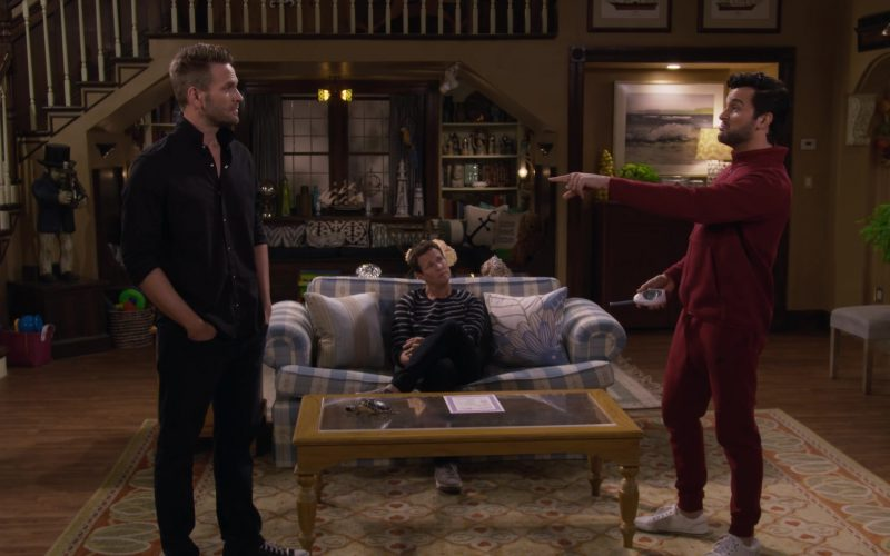 Nike Red Jacket and Pants Tracksuit Worn by Juan Pablo Di Pace as Fernando in Fuller House Season 5 Episode 4 (2)