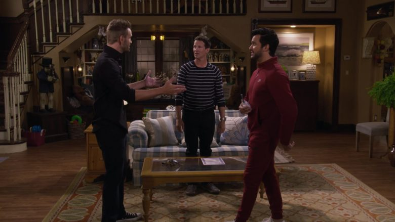 Nike Red Jacket and Pants Tracksuit Worn by Juan Pablo Di Pace as Fernando in Fuller House Season 5 Episode 4 (3)