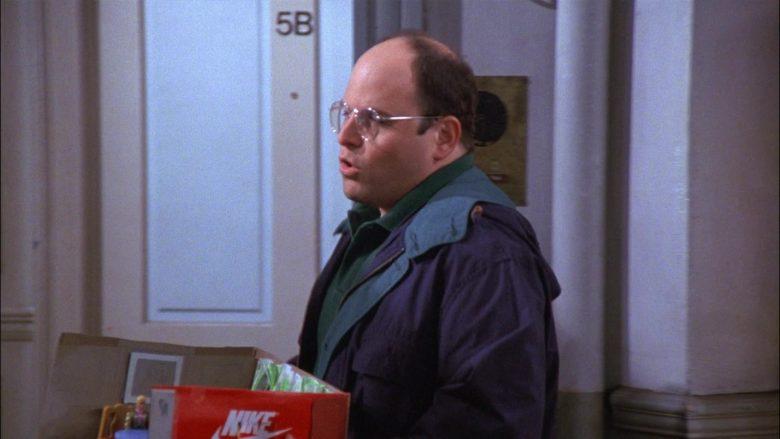 Nike Shoe Box Held by Jason Alexander as George Costanza in Seinfeld Season 8 Episode 2