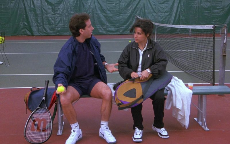 Nike Shoes, Socks and Wilson Racket in Seinfeld Season 8 Episode 13 The Comeback