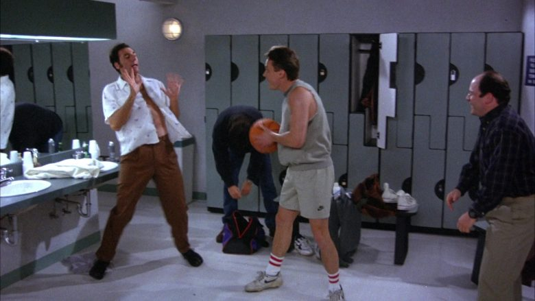 Nike Shorts and Shoes in Seinfeld Season 6 Episode 19 The Jimmy