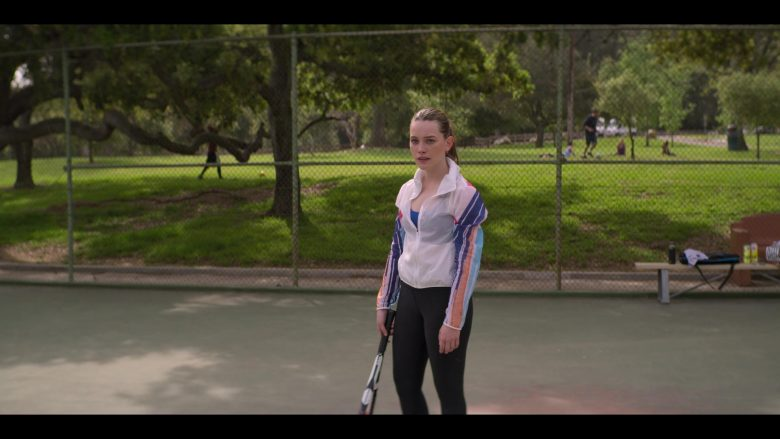 Nike Women's Sports Jacket Worn by Victoria Pedretti as Love Quinn in YOU Season 2 Episode 3 What Are Friends For (1)