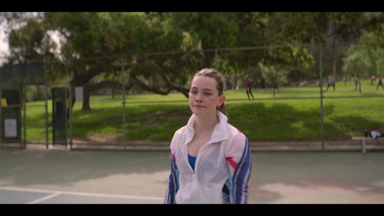 Nike Women's Sports Jacket Worn by Victoria Pedretti as Love Quinn in YOU Season 2 Episode 3 What Are Friends For (2)