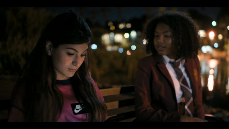 "Nike Pink Top Worn by Sophie Giannamore as Jordi in The L Word: Generation Q Season 1 Episode 1 ""Let's Do It Again"" (2019) - TV Show Product Placement"