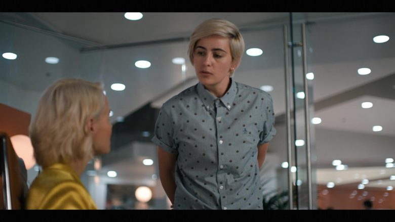 Original Penguin Shirt Worn by Jacqueline Toboni as Sarah Finley in The L Word Generation Q Season 1 Episode 2 Less Is More (1)
