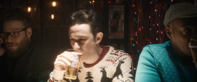 Pabst Blue Ribbon Beer Glass Cup Held by Joseph Gordon-Levitt in The Night Before